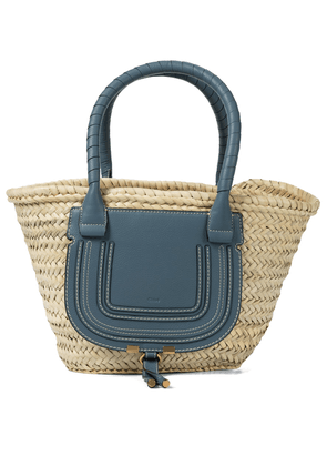 Marcie Medium raffia basket bag