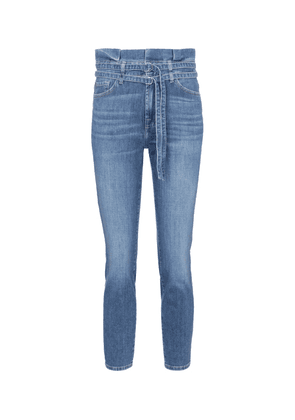 High-rise skinny paperbag jeans