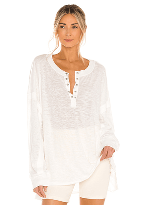 Free People X FP Movement One Up Long Sleeve Top in White. Size M, S, XS.