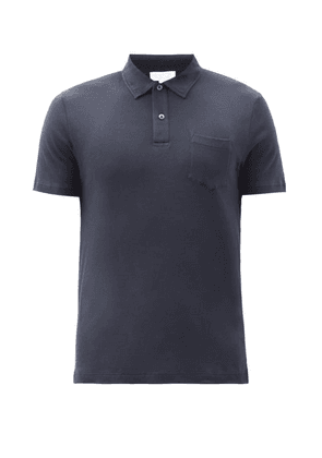 Sunspel - Riviera Sea Island-cotton Polo Shirt - Mens - Black