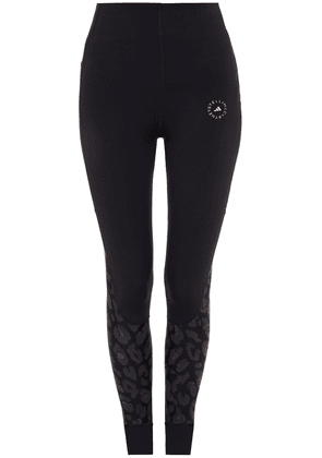Adidas By Stella Mccartney Adidas By Stella Mccartney Printed Stretch Leggings Woman Black Size XXS