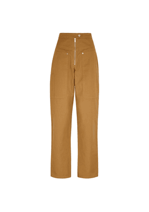 Isabel Marant Étoile Phil Camel Cotton-blend Trousers