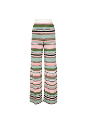 M Missoni Striped Fine-knit Trousers