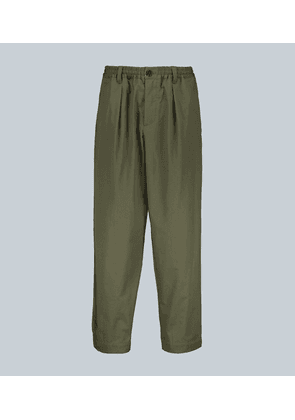 Loose-fit cotton pants