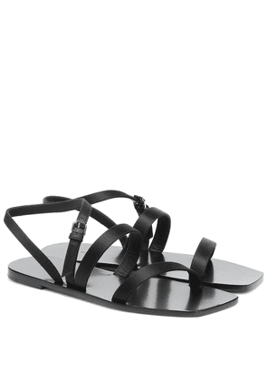 Flat Wedge leather sandals