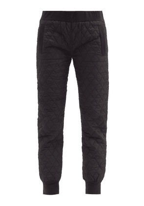 Norma Kamali - Diamond-quilted Shell Track Pants - Womens - Black
