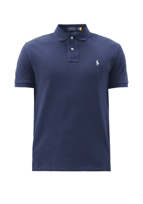 Polo Ralph Lauren - Logo-embroidered Cotton-piqué Polo Shirt - Mens - Navy
