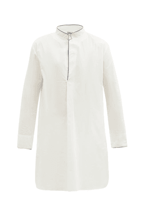 P. Le Moult - Piped Cotton Nightshirt - Mens - White