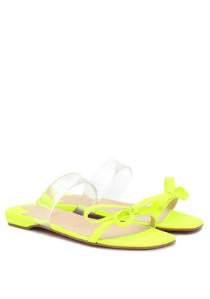 Just Nodo PVC-trimmed leather sandals