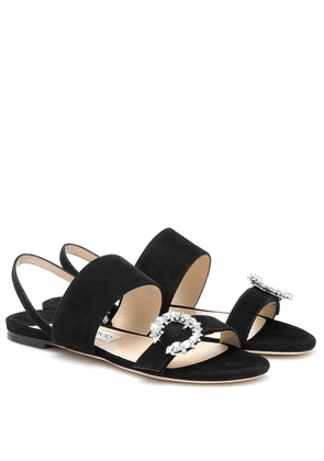 Sue flat crystal-embellished sandals