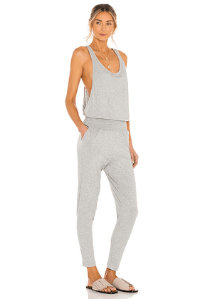 Bobi Supreme Jersey Jumpsuit in Grey. Size M, S, XS.