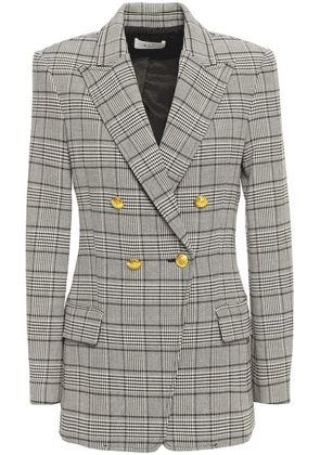 A.l.c. Sedgwick Ii Double-breasted Prince Of Wales Checked Woven Blazer Woman Stone Size 10
