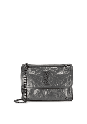 Saint Laurent Niki Medium Grey Leather Shoulder Bag
