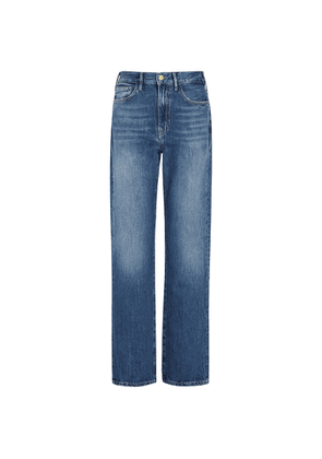 Frame Le Jane Dark Blue Straight-leg Jeans