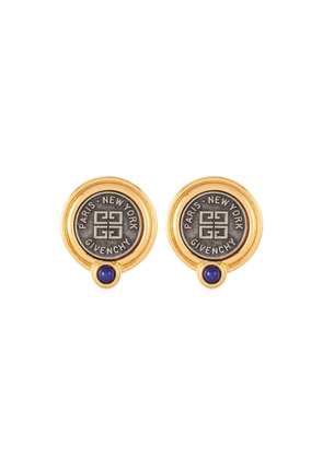 Susan Caplan Vintage 1980s Vintage Givenchy Logo Clip-on Earrings