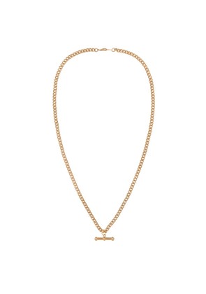 Susan Caplan Vintage 1990s Vintage 22ct Gold Plated Curb Chain Necklace With T-bar