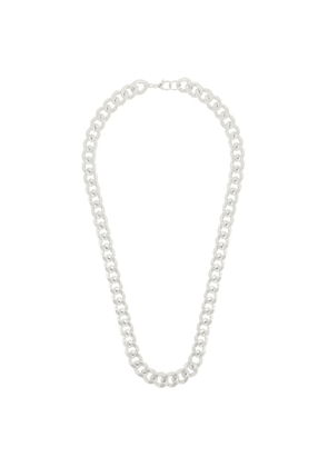 Susan Caplan Vintage 1990s Vintage Silver Plated Chunky Curb Chain Necklace