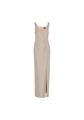Adrianna Papell Metallic Knit Gown
