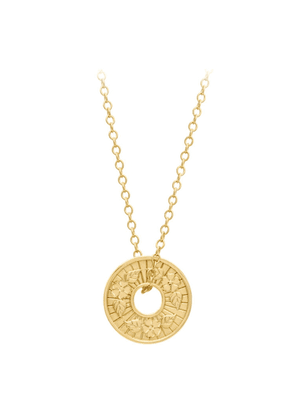 A World Entire Hope And Beauty Blossom Coin Pendant