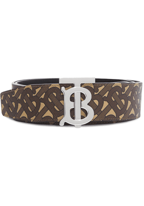 Burberry TB reversible leather belt - Brown