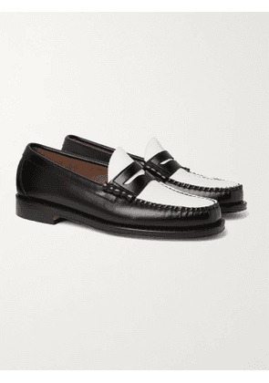 G.H. Bass & Co. - Weejuns Heritage Larson Colour-Block Leather Penny Loafers - Men - Black