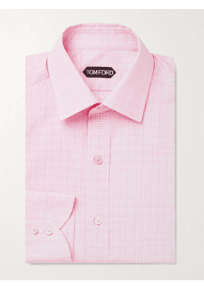 TOM FORD - Slim-Fit Prince of Wales Checked Cotton Shirt - Men - Pink