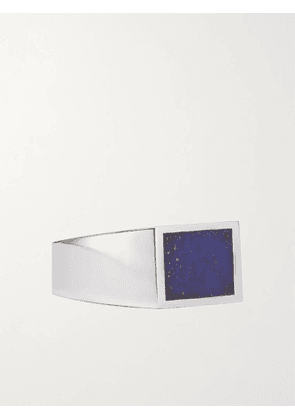 M.COHEN - Sterling Silver and Lapis Lazuli Signet Ring - Men - Silver