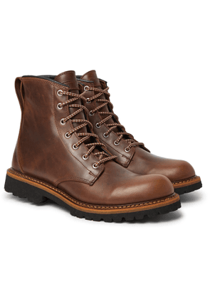 QUODDY - Maine Woods Burnished-Leather Boots - Men - Brown