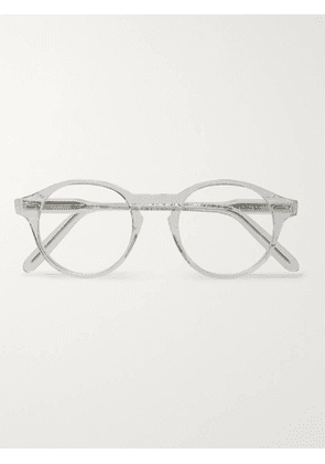 CUTLER AND GROSS - Round-Frame Acetate Optical Glasses - Men - Silver