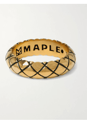 MAPLE - Quilted Gold-Plated Ring - Men - Gold - M