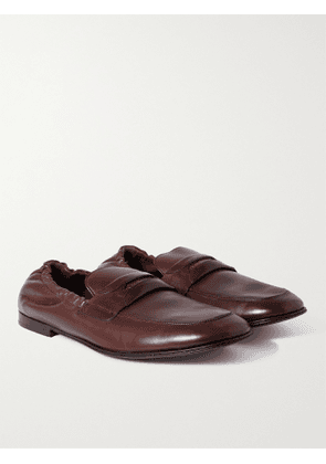 DOLCE & GABBANA - Leather Loafers - Men - Brown