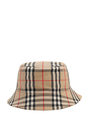 Check Cotton Blend Bucket Hat