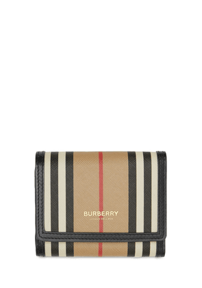 Anne Icon Stripe Canvas Wallet