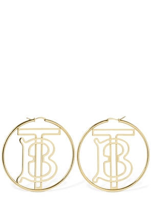 Tb Logo Hoop Earrings