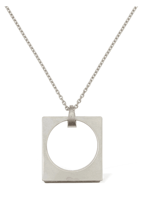 Squared Ring Charm Long Necklace
