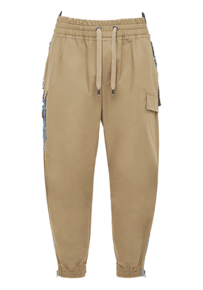 Logo Cotton Gabardine Jogging Pants