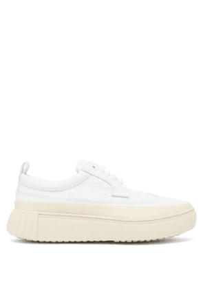 Primury - Panelled Leather Trainers - Womens - White