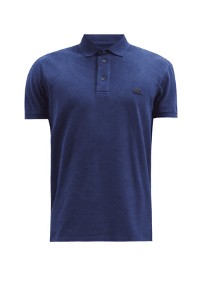 Etro - Paisley-print Cotton-piqué Polo Shirt - Mens - Navy