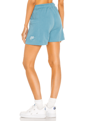 Nike W NSW Air Short Flc Hr in Blue. Size XS, M.