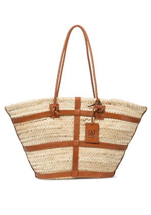 Watermill Large raffia basket bag