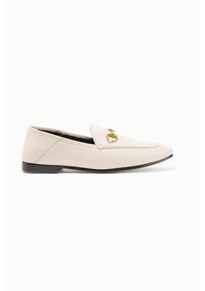 Gucci - Brixton Horsebit-detailed Leather Collapsible-heel Loafers - White