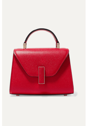 Valextra - Iside Micro Textured-leather Shoulder Bag