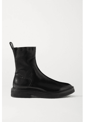Brunello Cucinelli - Bead-embellished Leather Ankle Boots - Black