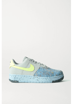 Nike - Air Force 1 Crater Faux Leather And Mesh Sneakers - Gray