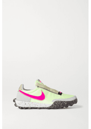 Nike - Waffle Racer Crater Leather And Suede-trimmed Shell Sneakers - Bright yellow