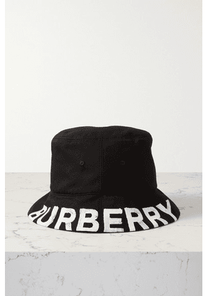Burberry - Reversible Printed Checked Cotton-twill Bucket Hat - Black