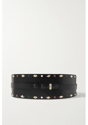 Isabel Marant - Yoli Studded Leather Belt - Black