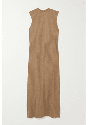 LOULOU STUDIO - Andrott Ribbed Mélange Wool And Cashmere-blend Maxi Dress - Brown