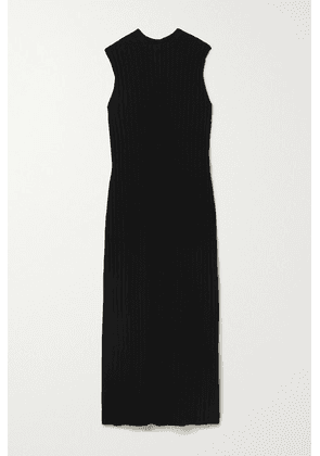 LOULOU STUDIO - Andrott Ribbed Wool And Cashmere-blend Maxi Dress - Black