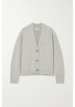 LOULOU STUDIO - Zanzibar Mélange Wool And Cashmere-blend Cardigan - Gray